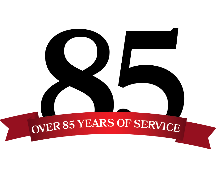Over 85 Years of Service