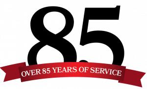 85 year logo