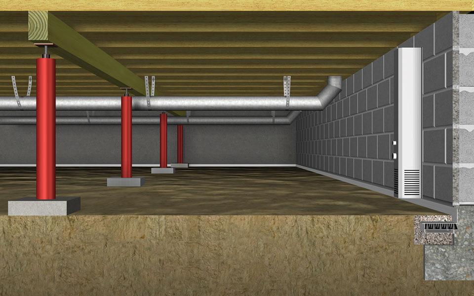 crawl safe support beams