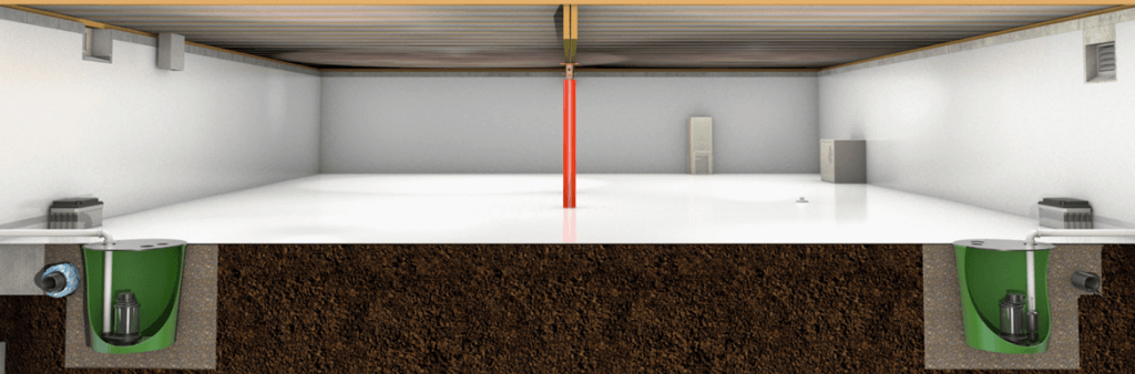 crawl space encapsulation and water management