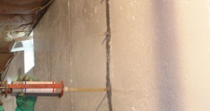 epoxy crack injections used to fix basement wall crack