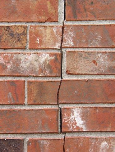 brick wall crack