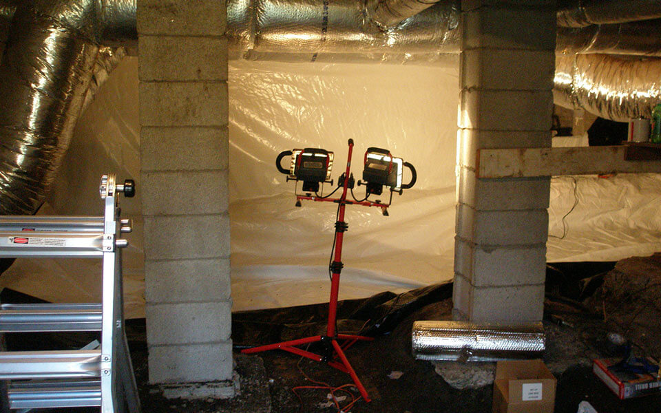 crawl space repair preperation