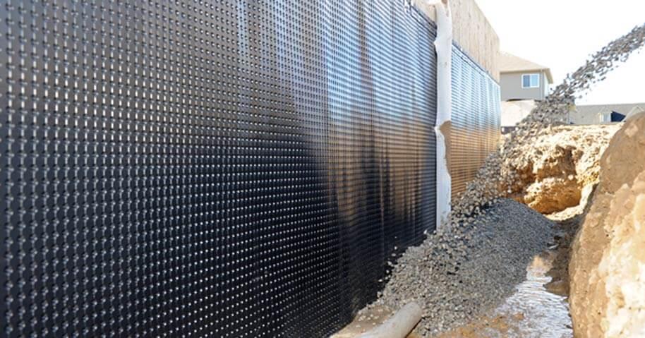 basement wall moisture barrier