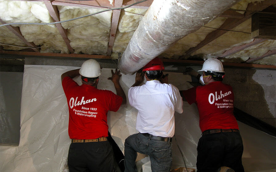 vapor barrier installation in memphis crawl space