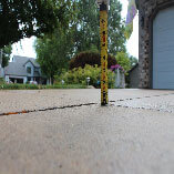 Uneven driveway restored in minutes, helping to protect your vehicle's tires and eliminate trip hazards.