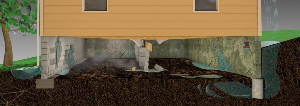 crawl space moisture points of entry