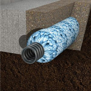 crawl space drainage system