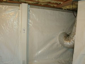 crawl space wall waterproofed