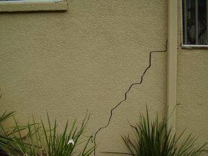 cracks on house