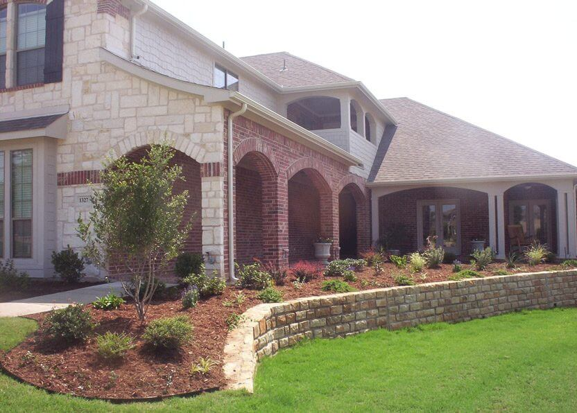 new home with brick exterior