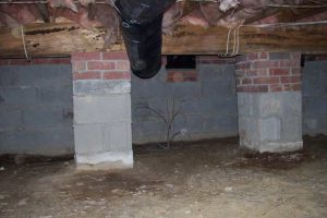 damaged crawl space home