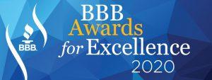 Better Business Bureau home service award 2020