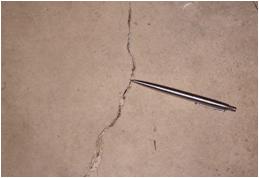cracked slab