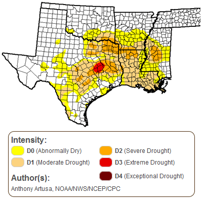 East Texas Drought 2015