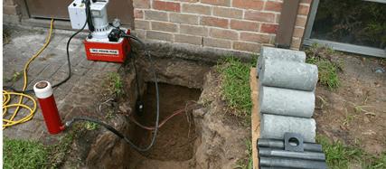 foundation repair job site