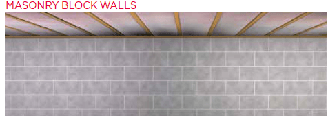 masonry block wall